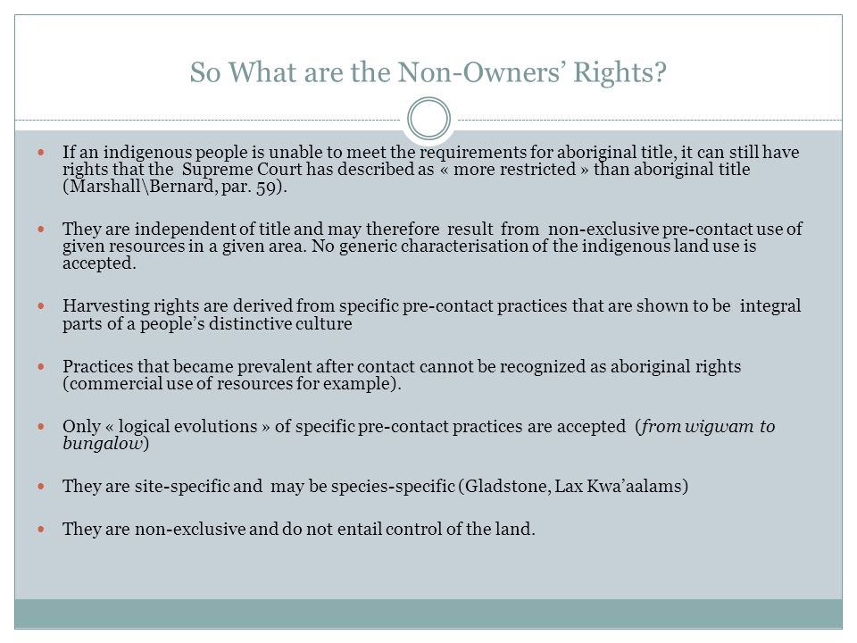 So What are the Non-Owners' Rights.
