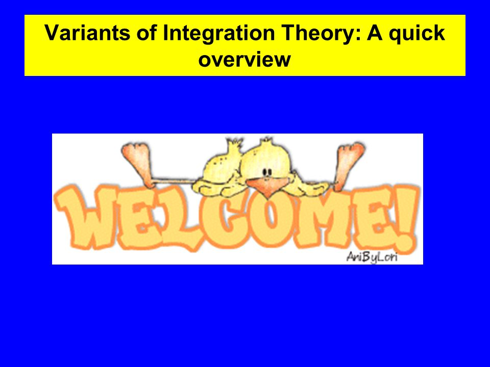 Variants of Integration Theory: A quick overview