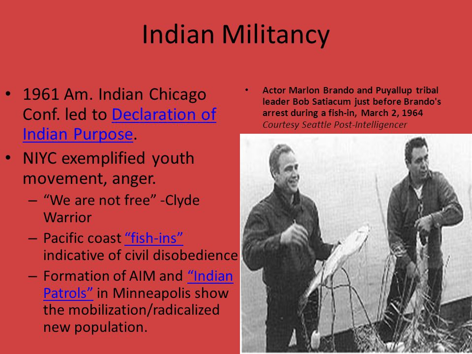 Indian Militancy 1961 Am. Indian Chicago Conf.