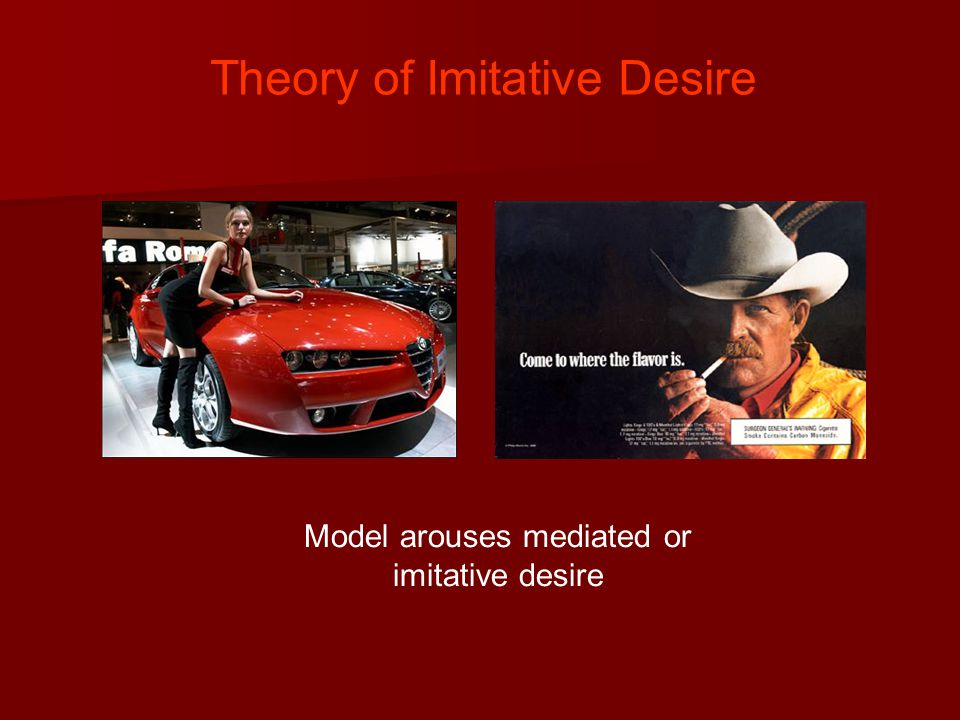 Theory of Imitative Desire Model arouses mediated or imitative desire
