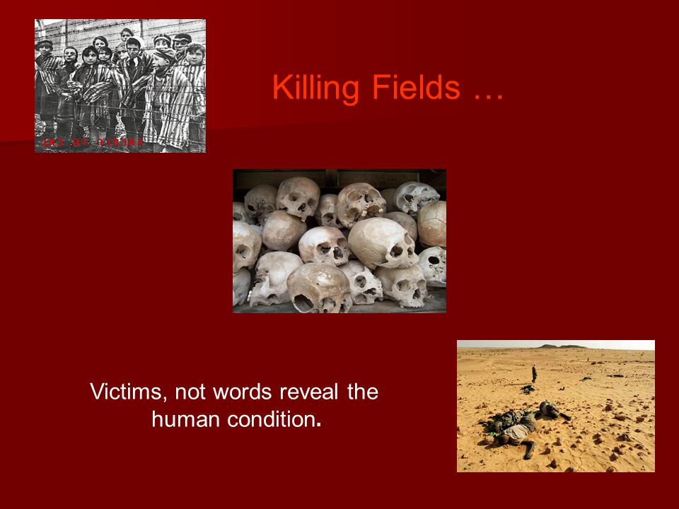 Killing Fields … Victims, not words reveal the human condition.