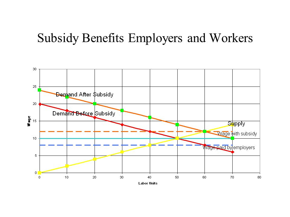 Subsidy Benefits Employers and Workers