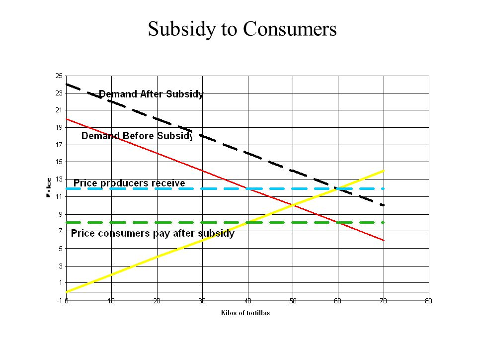 Subsidy to Consumers