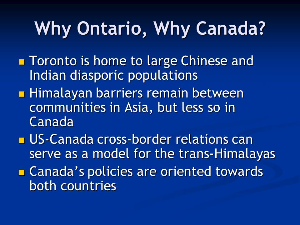 Why a Regional Focus.