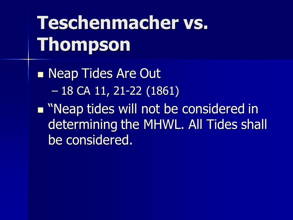 Teschenmacher vs.