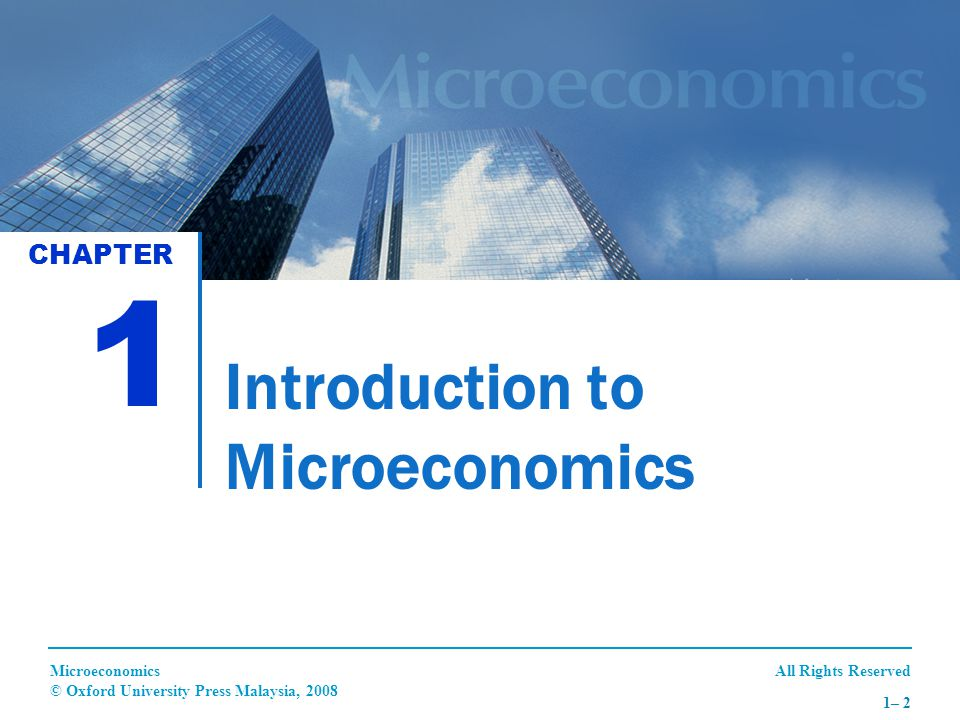 All Rights ReservedMicroeconomics © Oxford University Press Malaysia, 2008 1– 13 THE ASSUMPTIONS OF PRODUCTION POSSIBILITIES CURVE (PPC) (CON'T) 3.The state of technology does not change throughout production.