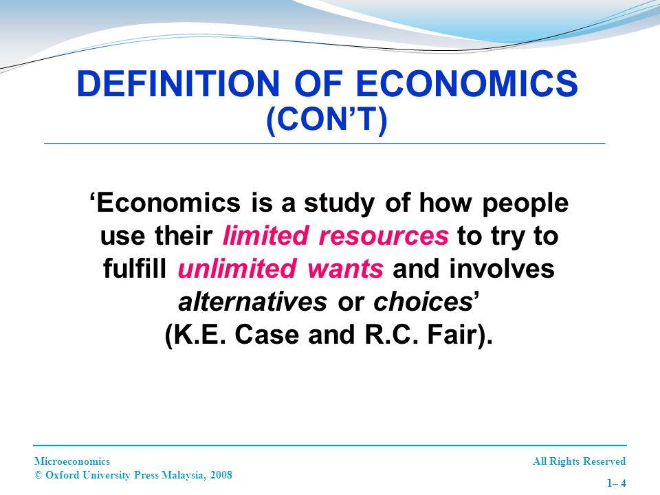 All Rights ReservedMicroeconomics © Oxford University Press Malaysia, 2008 1– 25 1.