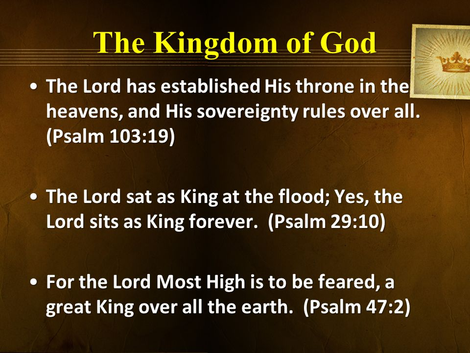 The Kingdom of God 12 When your days are complete and you lie down with your fathers, I will raise up your descendant after you, who will come forth from you, and I will establish his kingdom.