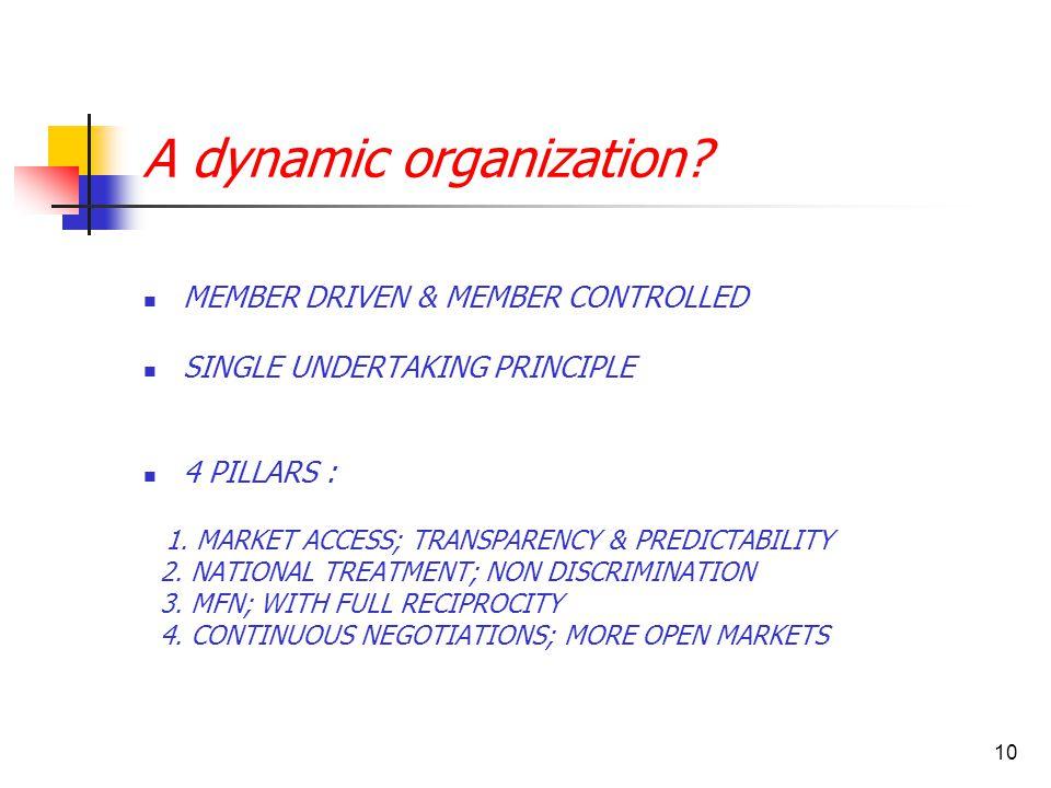 10 A dynamic organization.