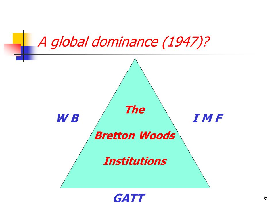 6 A Global Village? )WTO )