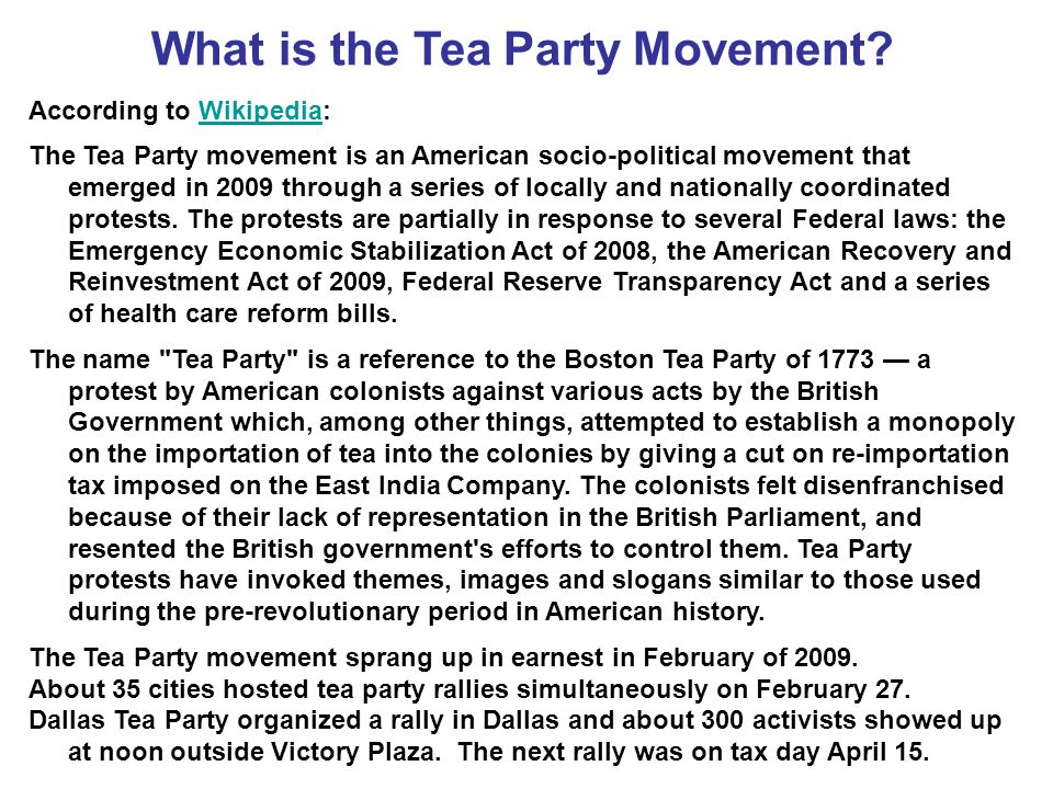 What is the Tea Party Movement.