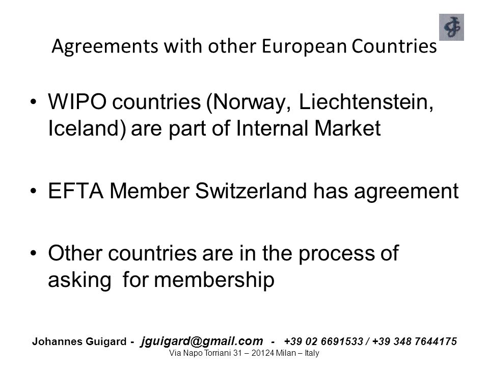Johannes Guigard - jguigard@gmail.com - +39 02 6691533 / +39 348 7644175 Via Napo Torriani 31 – 20124 Milan – Italy Transparency in legislative process Transparency is the core of the European Legislative Process Investors need to be able to invest across borders easily and with confidence Trust Loyalty  It is an investment in But also HOW it is disclosed that matters Not only WHAT information is disclosed  Transparency is