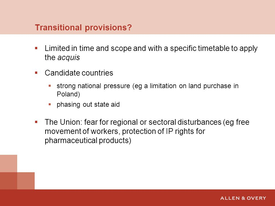 Transitional provisions.