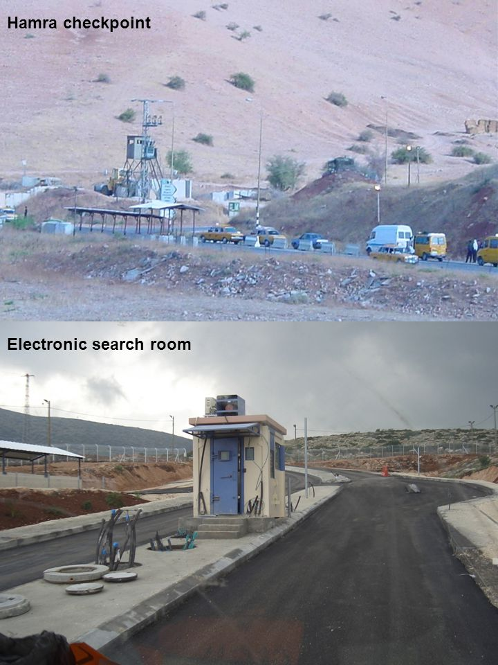 Hamra checkpoint Electronic search room