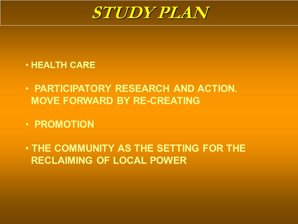 HEALTH CARE PARTICIPATORY RESEARCH AND ACTION.