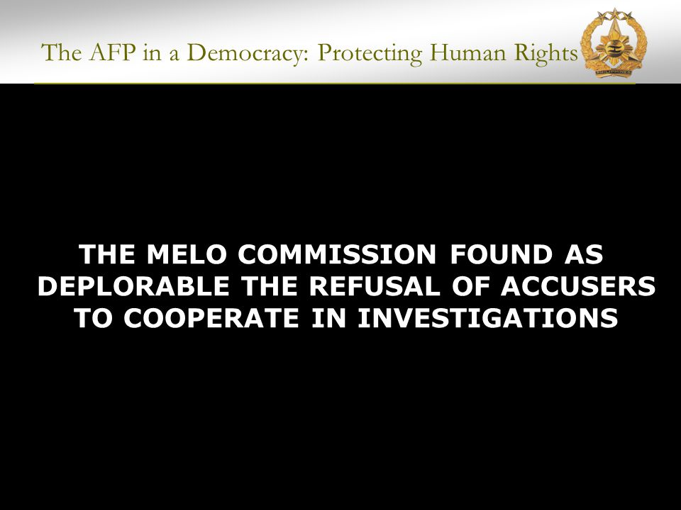 POLITICAL WARFARE BY THE CPP-NPA-NDF Plaza Miranda Bombing Initially attributed to the Philippine government Eventually proven to be perpetrated by CPP-NPA-NDF The AFP in a Democracy: Protecting Human Rights