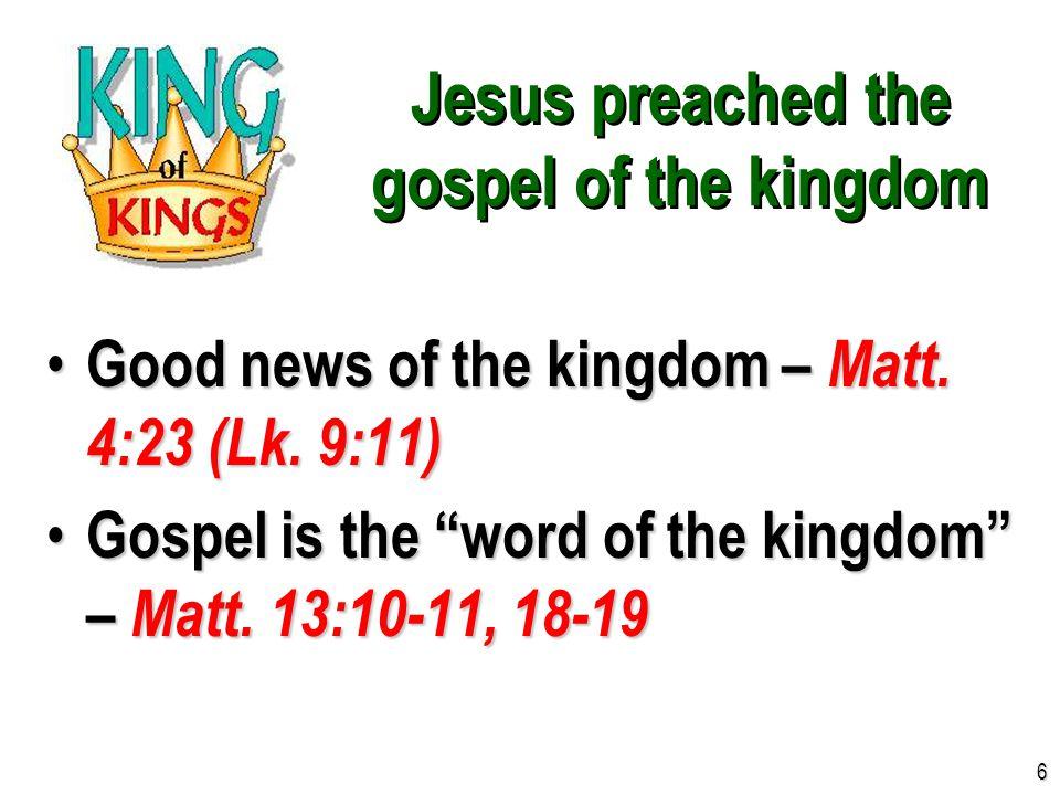 Jesus identified His kingdom Church of Christ = Kingdom of Christ, Matt.