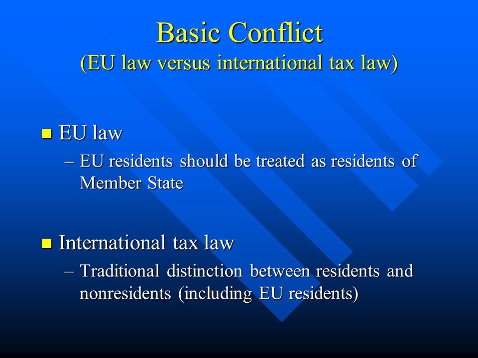 Compliance with ECJ Decisions (based on EU Treaty freedoms) NondiscriminationArt.