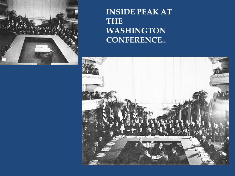 INSIDE PEAK AT THE WASHINGTON CONFERENCE..