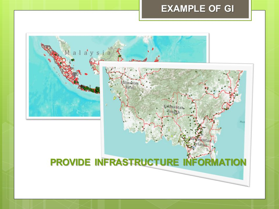 PROVIDE INFRASTRUCTURE INFORMATION EXAMPLE OF GI