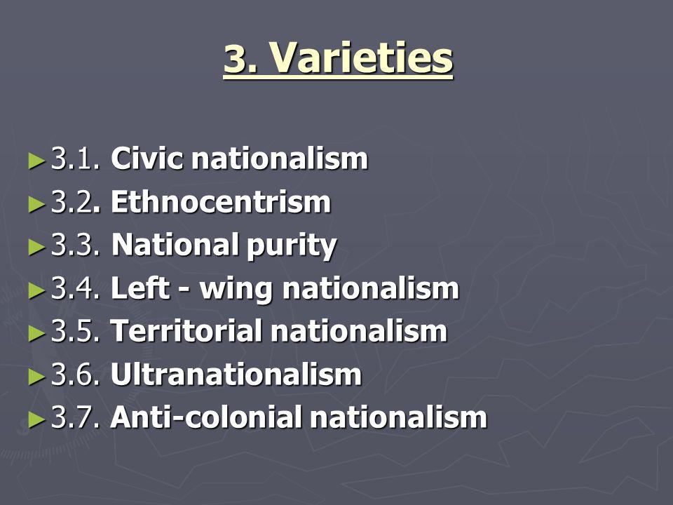 3. Varieties ► 3.1. Civic nationalism ► 3.2. Ethnocentrism ► 3.3.