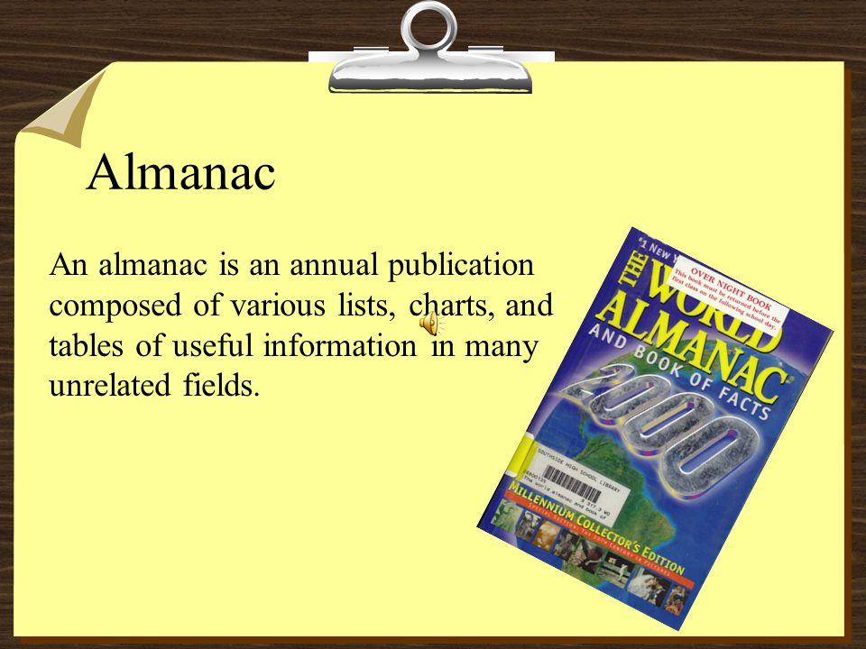 Library References 8Almanac 8Atlas 8Biographical Dictionary 8Dictionary/Unabridged Dictionary 8Geographical Dictionary 8Encyclopedia 8Indexes 8Periodi