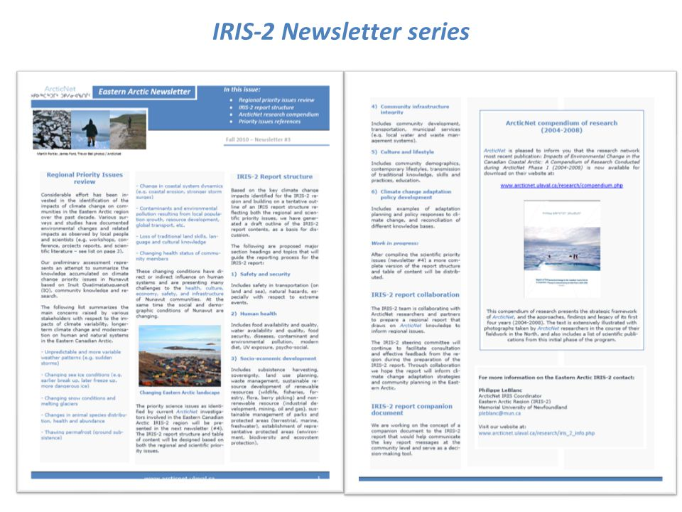 IRIS-2 Newsletter series