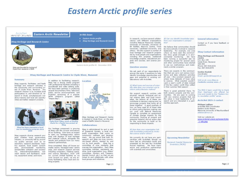 Eastern Arctic profile series