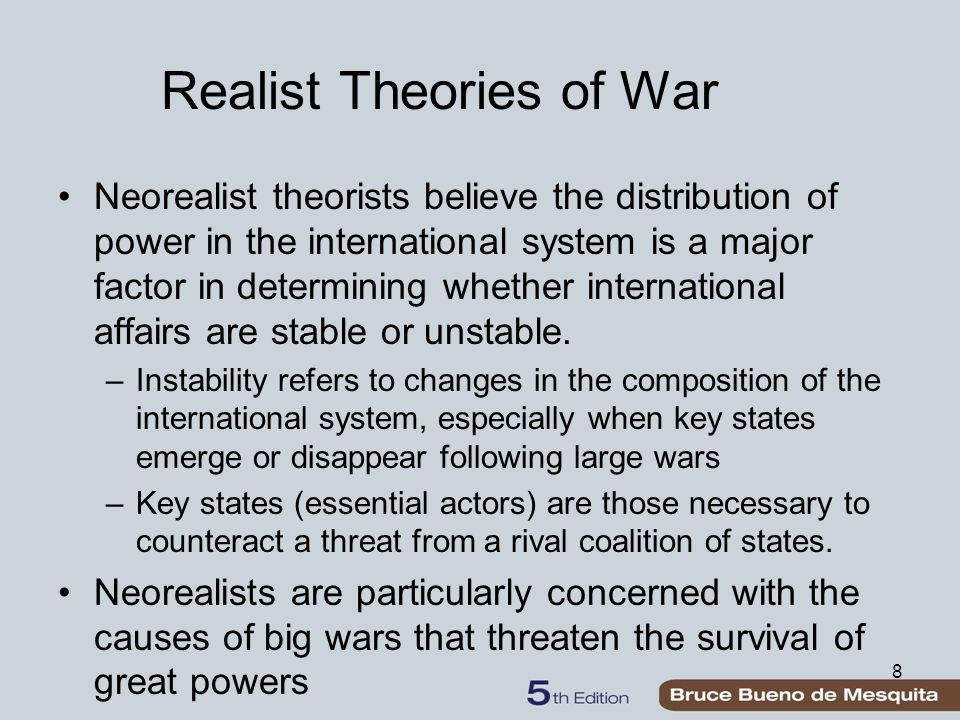 On reste ici pour l'instant essentiellement dans le cadre d'un acteur rationnel unifié / l'Etat / sans division interne.