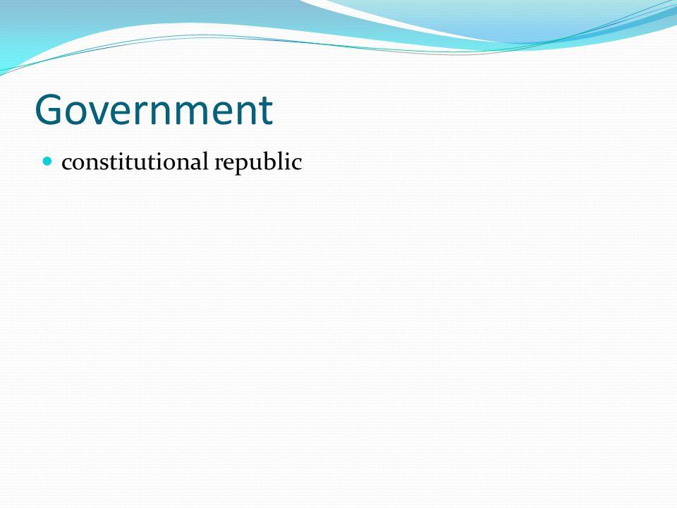 Government constitutional republic