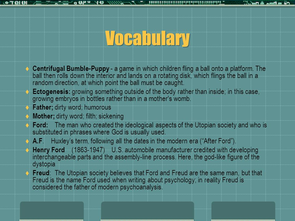Vocabulary  Centrifugal Bumble-Puppy - a game in which children fling a ball onto a platform.