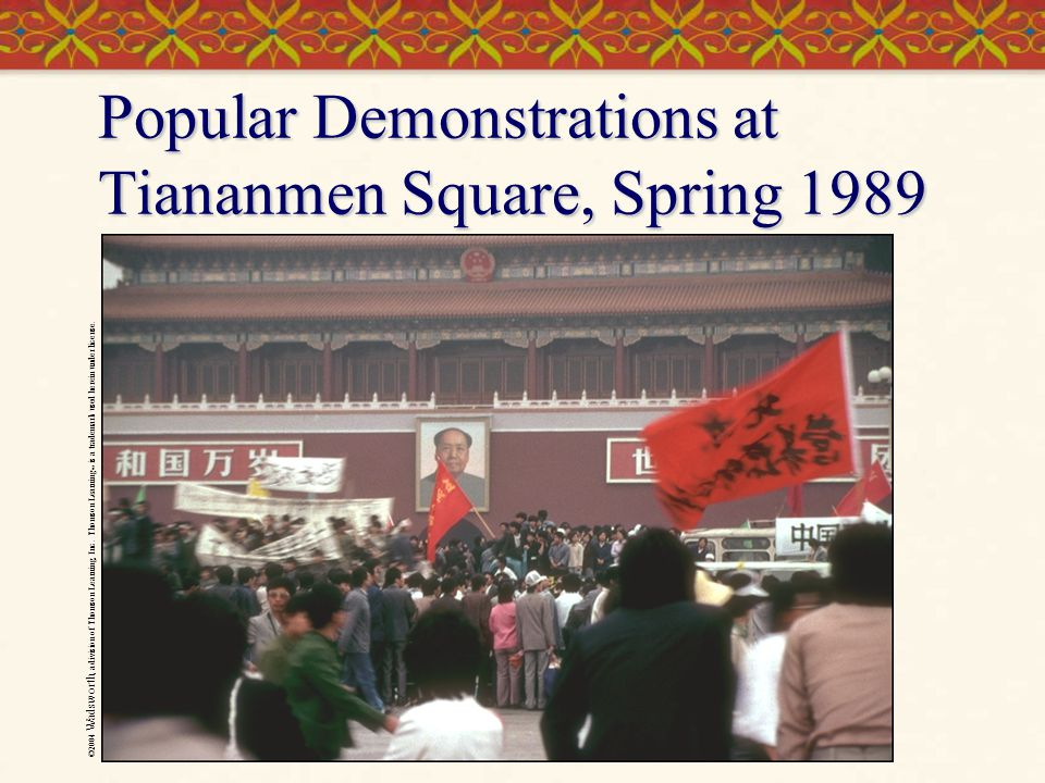 ©2004 Wadsworth, a division of Thomson Learning, Inc. Thomson Learning ™ is a trademark used herein under license. Popular Demonstrations at Tiananmen