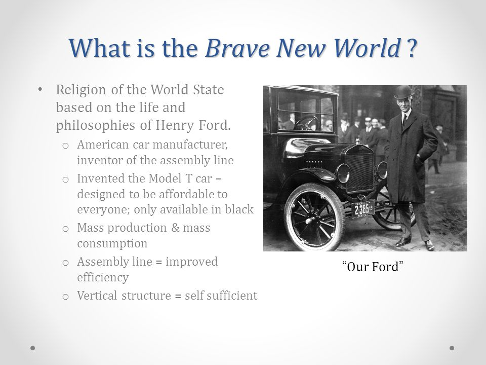 Religion of the World State based on the life and philosophies of Henry Ford.