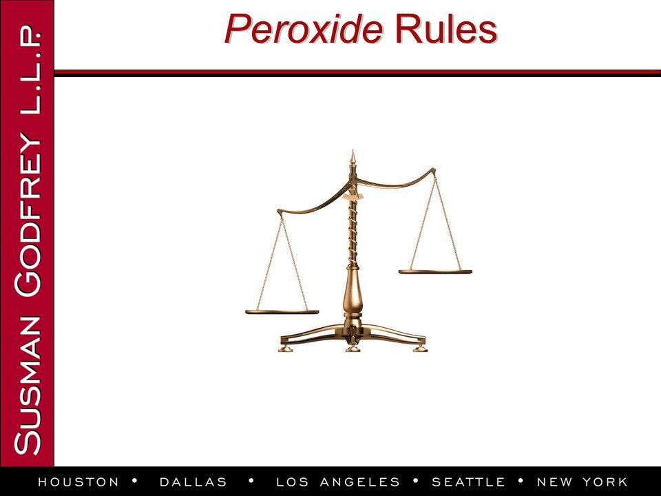 Peroxide Rules