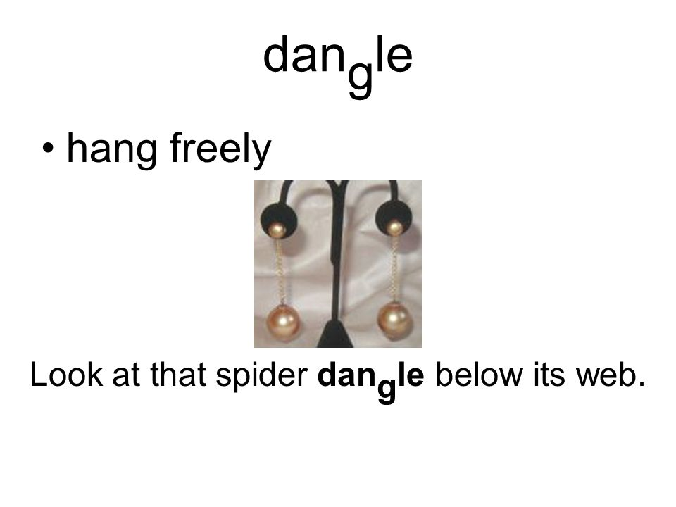 dan g le hang freely Look at that spider dan g le below its web.