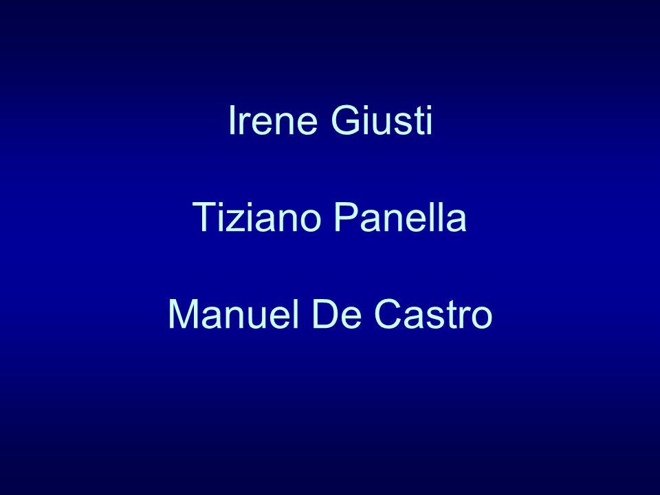 Irene Giusti Tiziano Panella Manuel De Castro