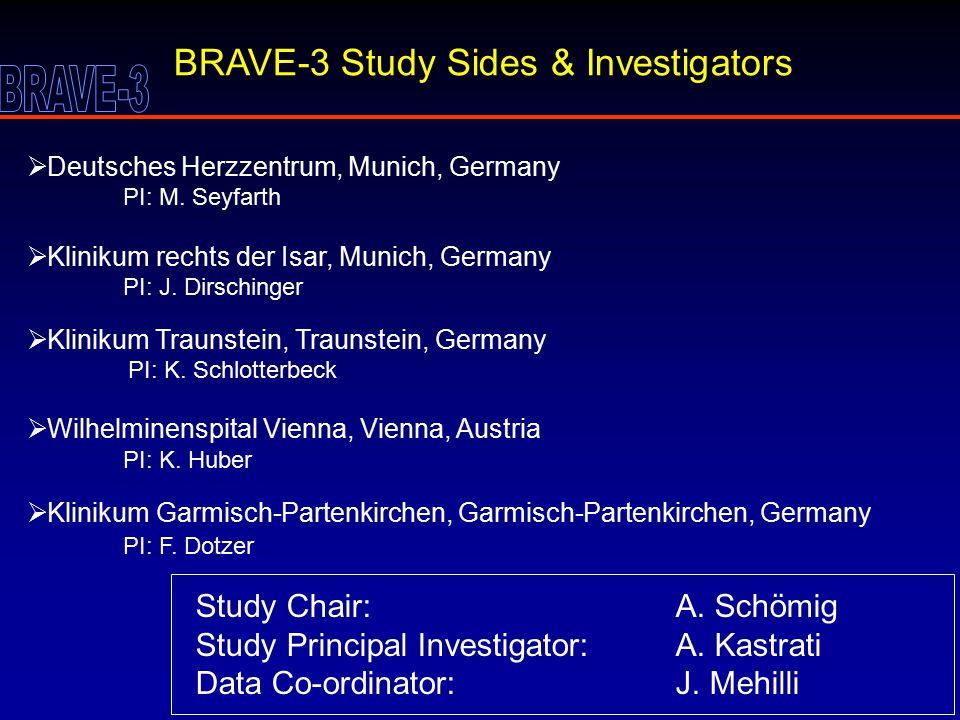BRAVE-3 Study Sides & Investigators  Deutsches Herzzentrum, Munich, Germany PI: M.