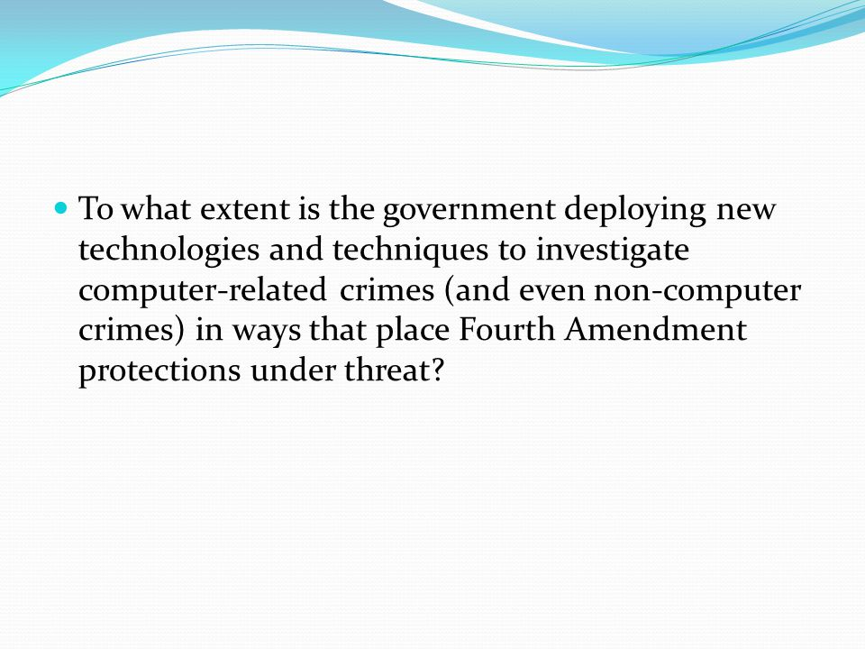 This panel will explore the ways in which the government's efforts to bring the fight to cyber and other criminals may bring the government into homes, offices, and other private spaces in ways never before envisioned.