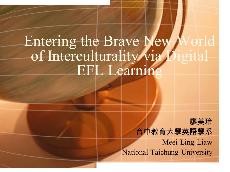 Possibilities of Intercultural FL Education Groups from different cultures in contact together via online communication will interact on a more equal footing than they might in a face-to-face situation, thereby increase the potential for interaction in which neither group is dominated by the other.