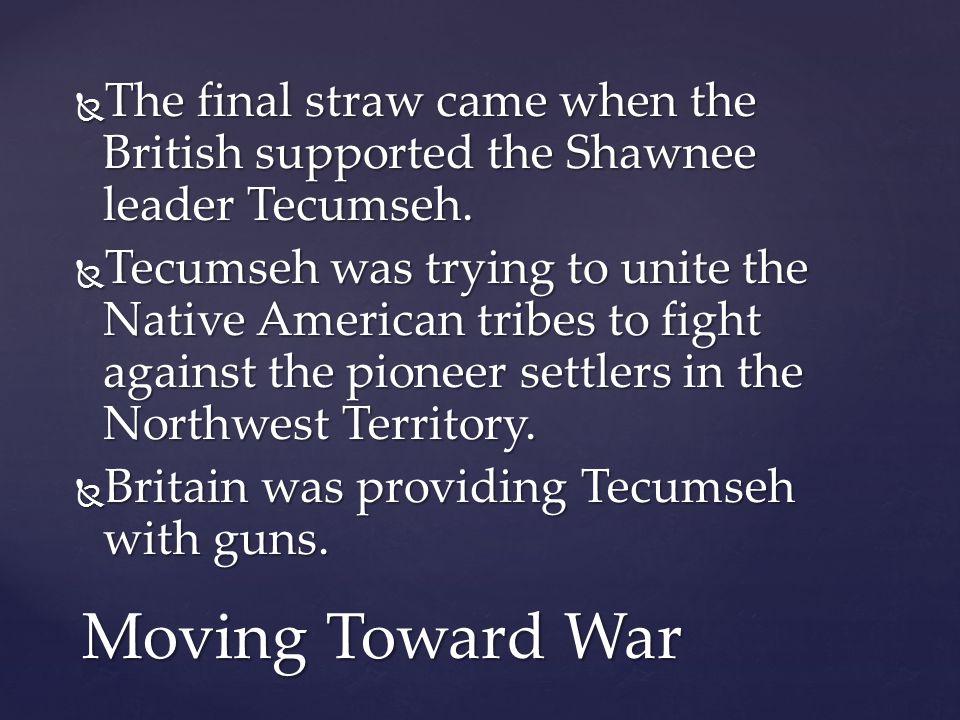 Tecumseh, leader of the Shawnee