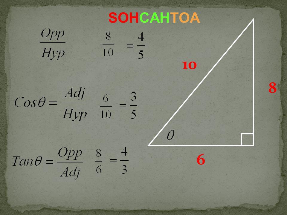6 8 10 SOHCAHTOA
