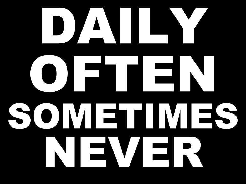 DAILY OFTEN SOMETIMES NEVER