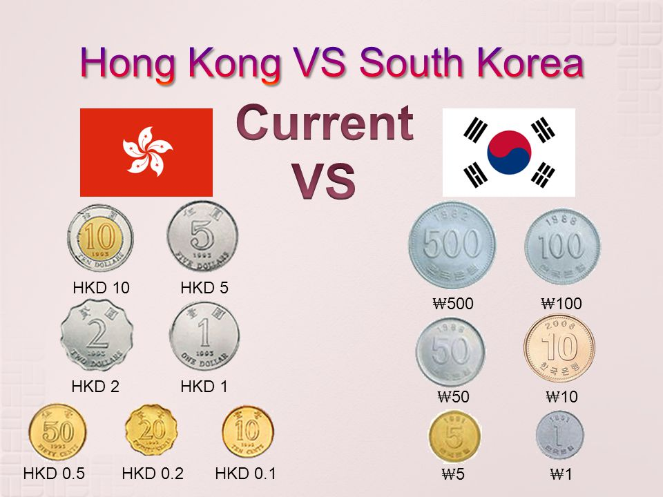 HKD 10HKD 5 HKD 2HKD 1 HKD 0.5HKD 0.2HKD 0.1 ₩ 500 ₩ 100 ₩ 50 ₩ 10 ₩5₩5 ₩1₩1
