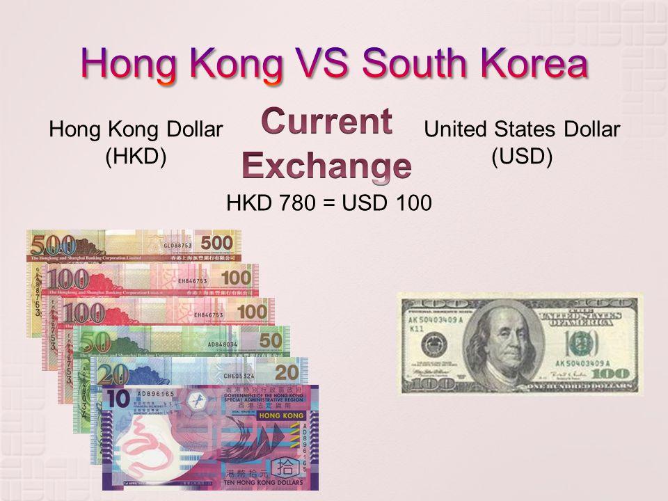Hong Kong Dollar (HKD) United States Dollar (USD) HKD 780 = USD 100