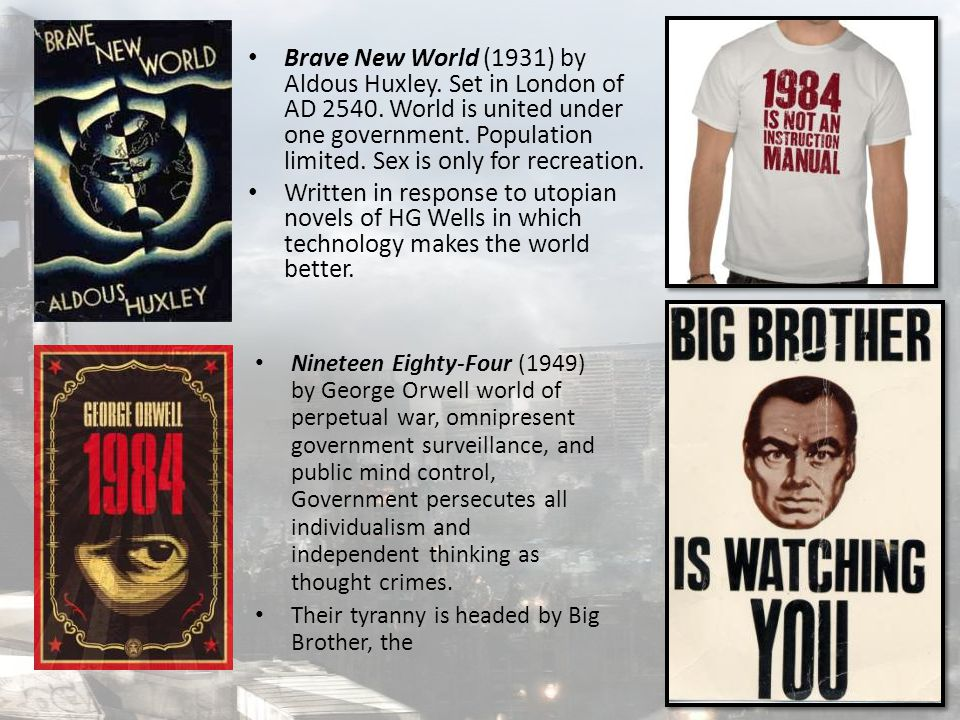 Brave New World (1931) by Aldous Huxley. Set in London of AD 2540.