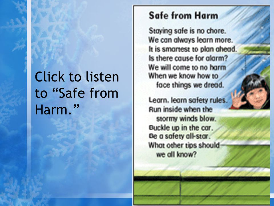 "Click to listen to ""Safe from Harm."""