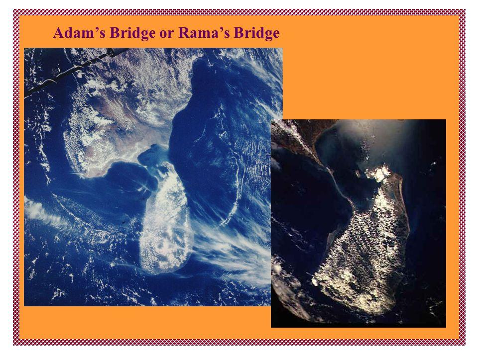 Adam's Bridge or Rama's Bridge