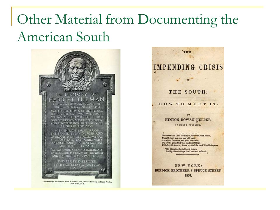 Other Material from Documenting the American South