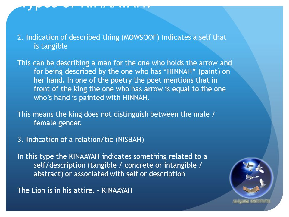 Types of KINAAYAH: 2.