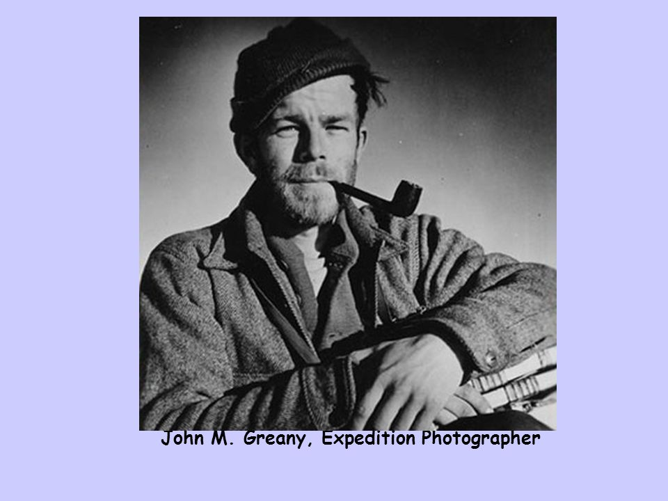 John M. Greany, Expedition Photographer